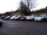 Car Park at the  Pastoral Centre, Letterkenny, County Donegal, Ireland